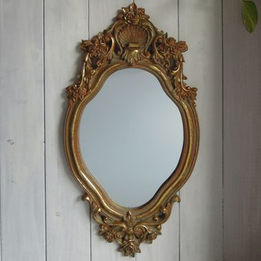アンティーク仕上げの鏡